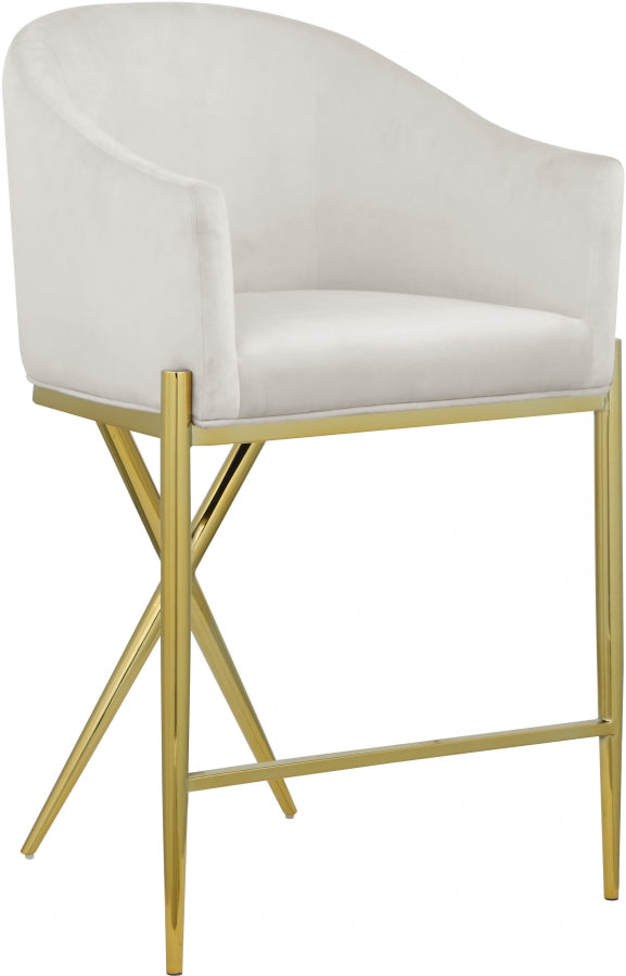 XAVIER CREAM COUNTER STOOL