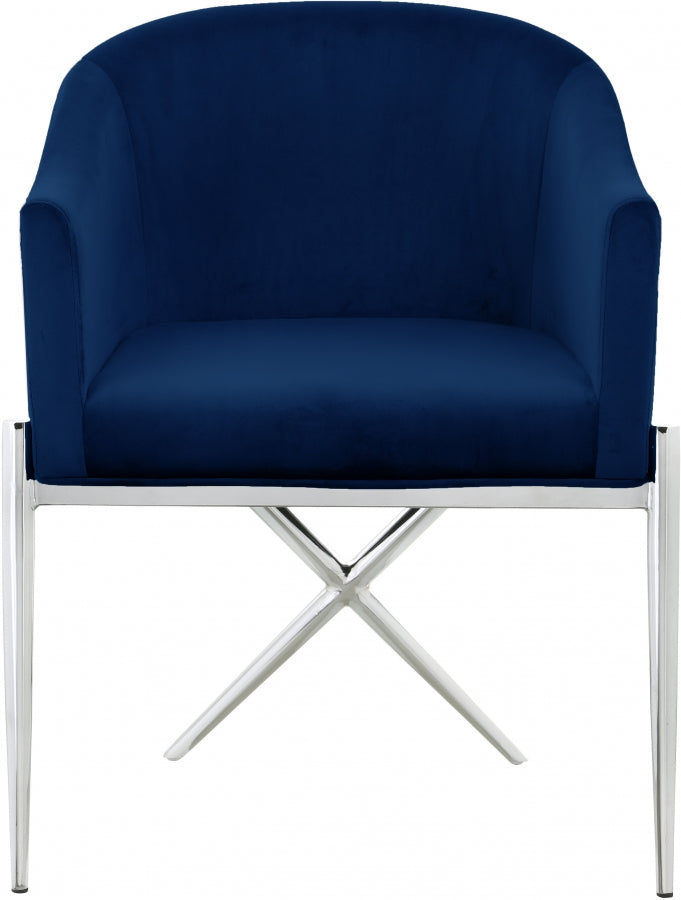 XAVIER SILVER BLUE CHAIR