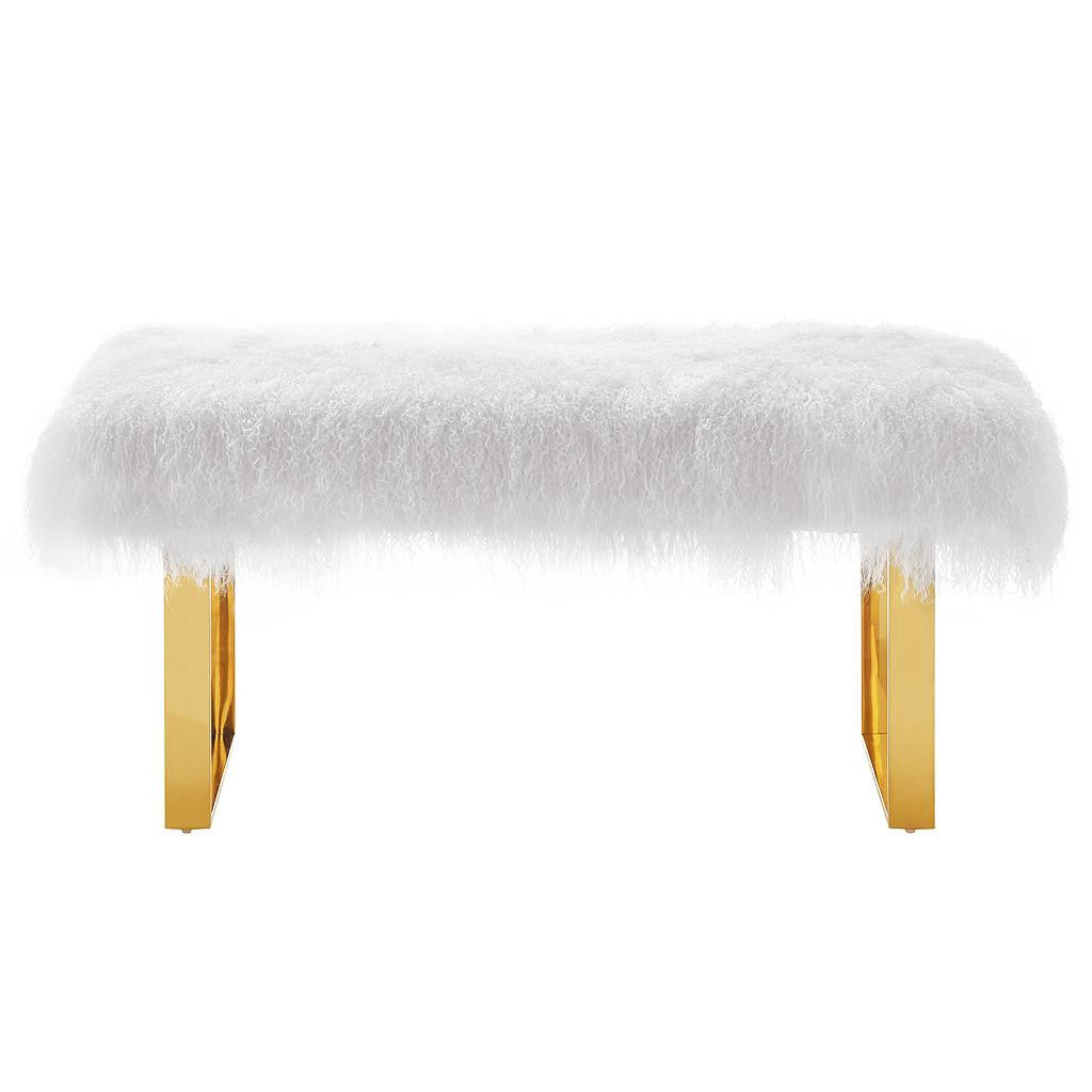 Chic fur bench