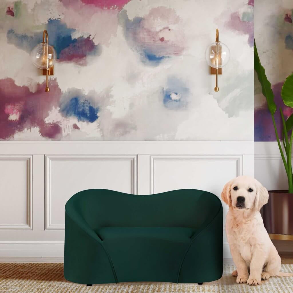 Poodle green PET BED