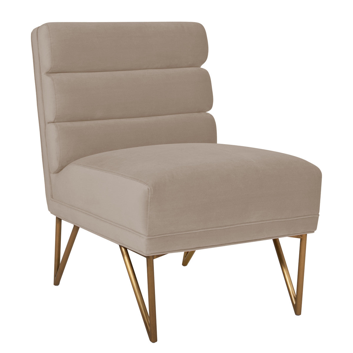 Kelly Cream Velvet Chair
