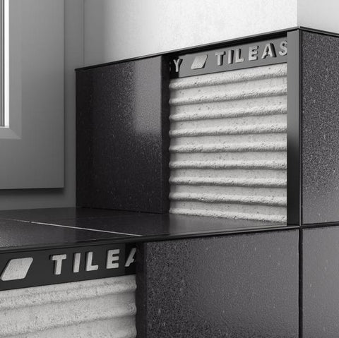 Tileasy Square Edge Trim Black 8mm