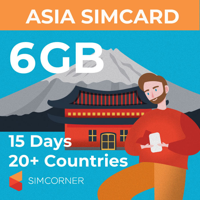 15 Day Asia Sim Card (6GB) - SimCorner Canada