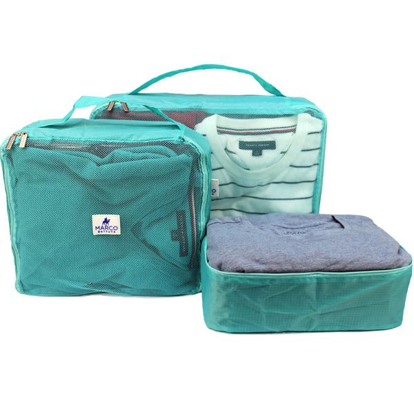 Packing Cube 6 piece - Turquoise Green - SimCorner Canada