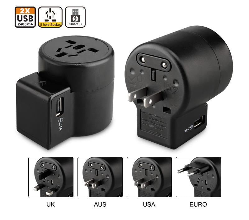Universal Travel Power Adapter with USB - SimCorner Canada