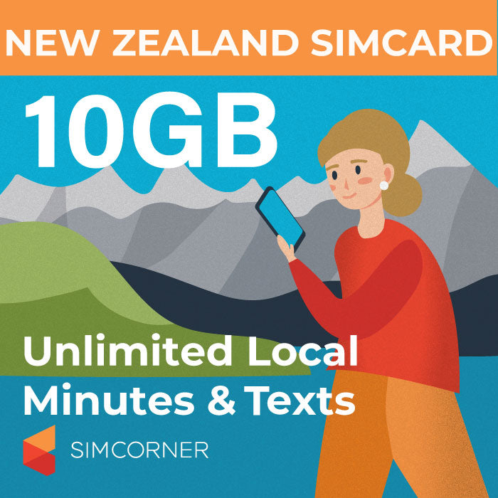 New Zealand Sim Card (Vodafone NZ) - 10GB - SimCorner Canada