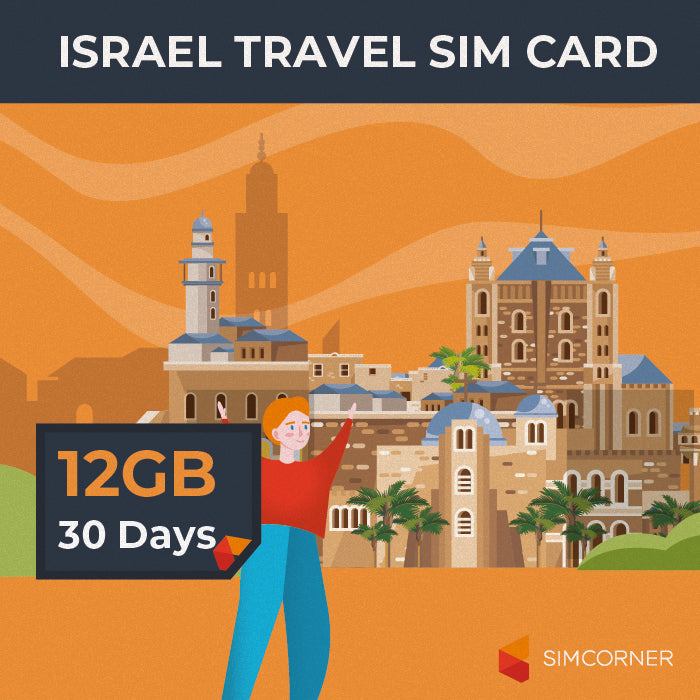 Simcorner - Israel Data SIM Card(12GB)