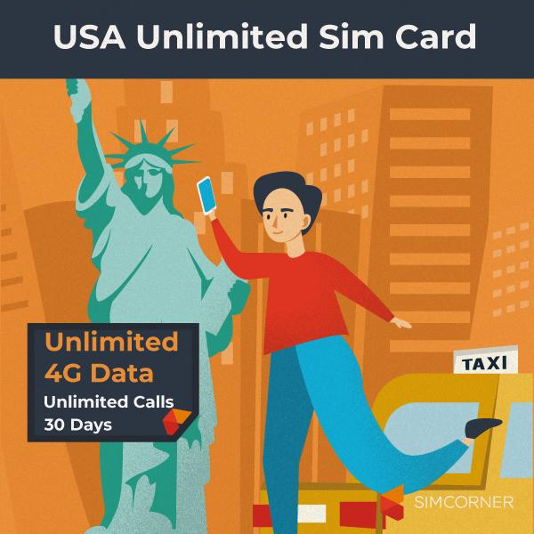 Simcorner - USA Unlimited 4G Data Sim Card (T-Mobile)