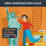 USA Unlimited 4G Data Sim Card (T-Mobile) - SimCorner Canada