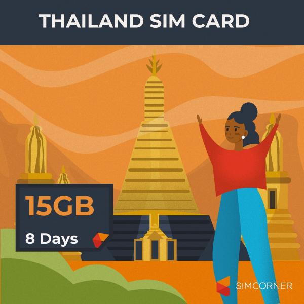 Thailand Travel Sim Card - 15GB (AIS) - SimCorner Canada
