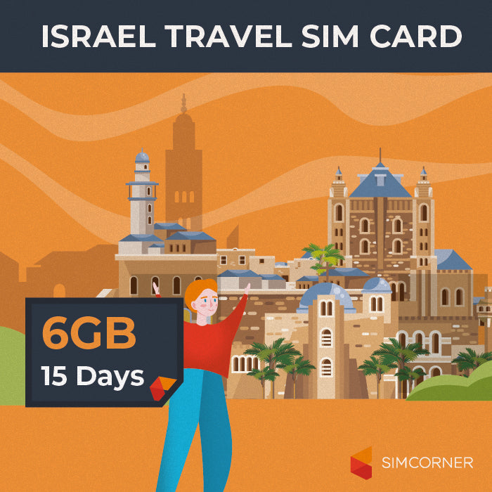 Israel Data SIM Card (15 Day - 6GB) - SimCorner Canada