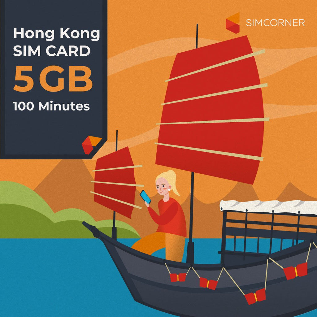 Hong Kong Sim Card (5GB) - SimCorner Canada