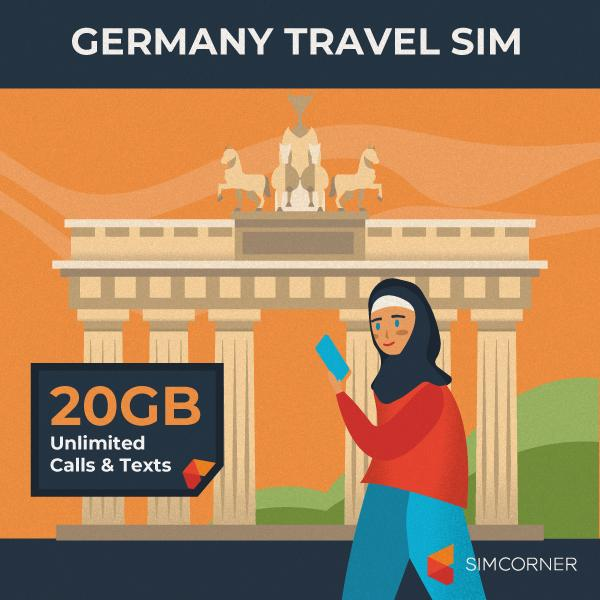 Germany Travel Sim Card (20GB) - SimCorner Canada