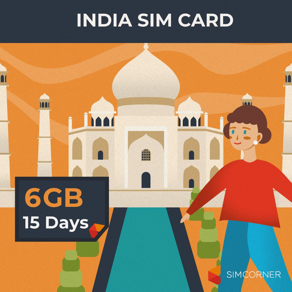 Simcorner - India Data SIM Card (15 Day - 6GB)