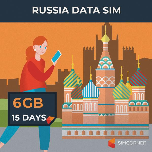 Simcorner - Russia Data SIM Card (15 Day - 6GB)