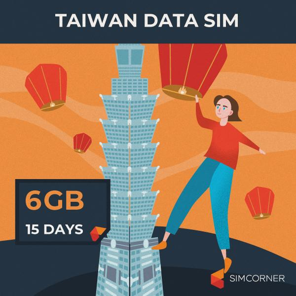 Taiwan Data SIM Card (15 Day - 6GB) - SimCorner Canada