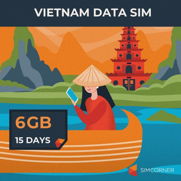 Vietnam Data SIM Card (15 Day - 6GB) - SimCorner Canada