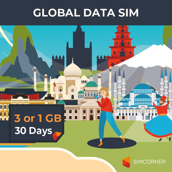 Simcorner - Global Data Travel Pack