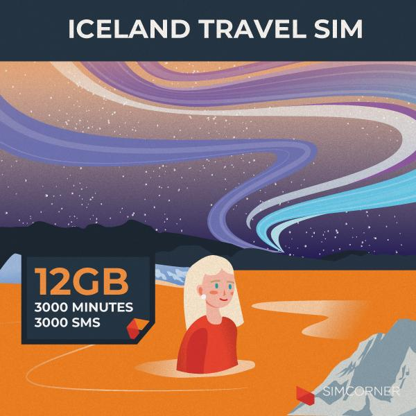 Iceland Travel Sim Card (12GB) - SimCorner Canada