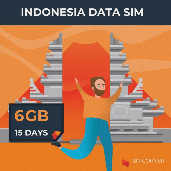 Simcorner - Indonesia Data SIM Card (15 Day - 6GB)