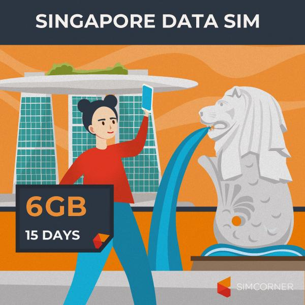 Simcorner - Singapore Data SIM Card (15 Day - 6GB)