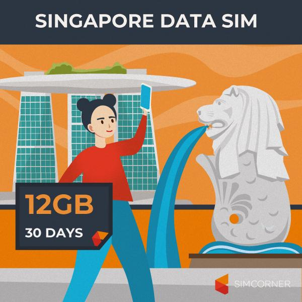 Simcorner - Singapore Data SIM Card(12GB)
