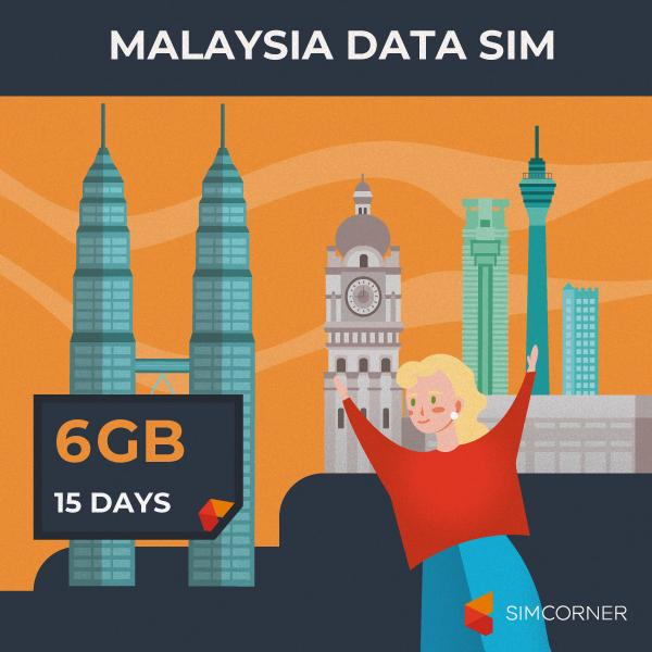 Simcorner - Malaysia Data SIM Card (15 Day - 6GB)