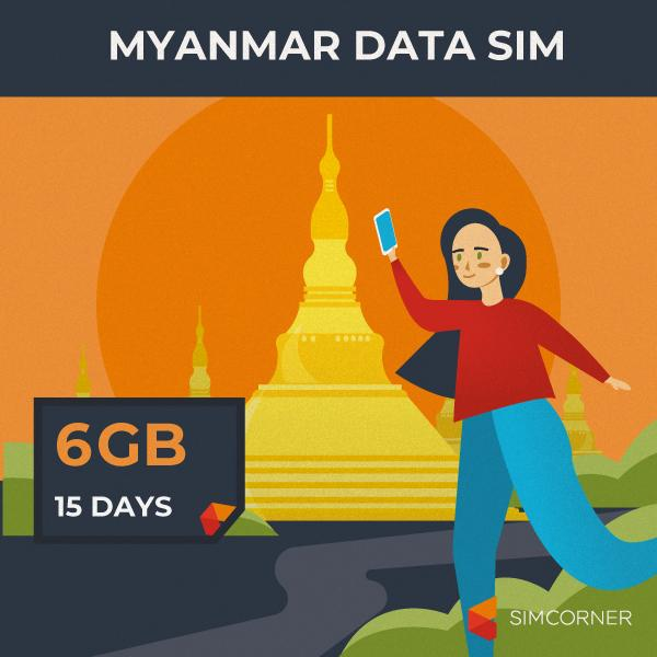 Simcorner - Myanmar Data SIM Card (15 Day - 6GB)