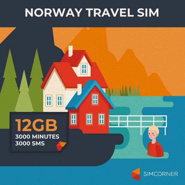 Norway Travel Sim Card (12GB) - SimCorner Canada