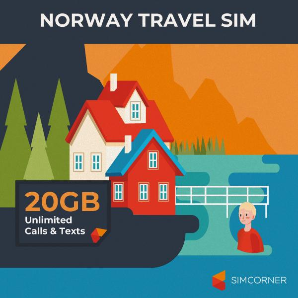 Simcorner - Norway Travel Sim Card (20GB)