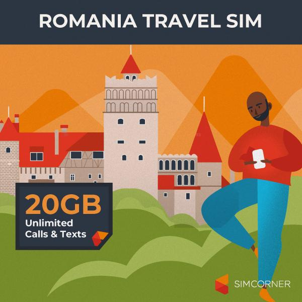 Simcorner - Romania Travel Sim Card (20GB)