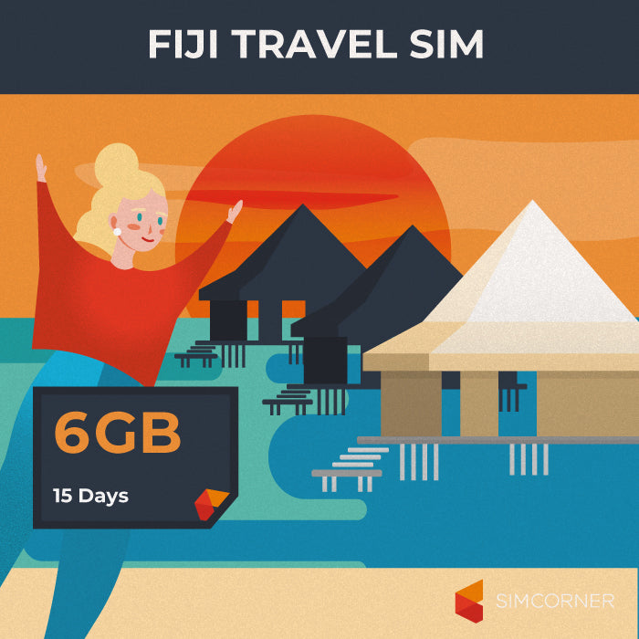 Fiji Data SIM Card (15 Day - 6GB) - SimCorner Canada