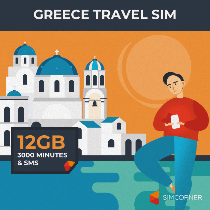Simcorner - Greece Travel Sim Card (12GB)