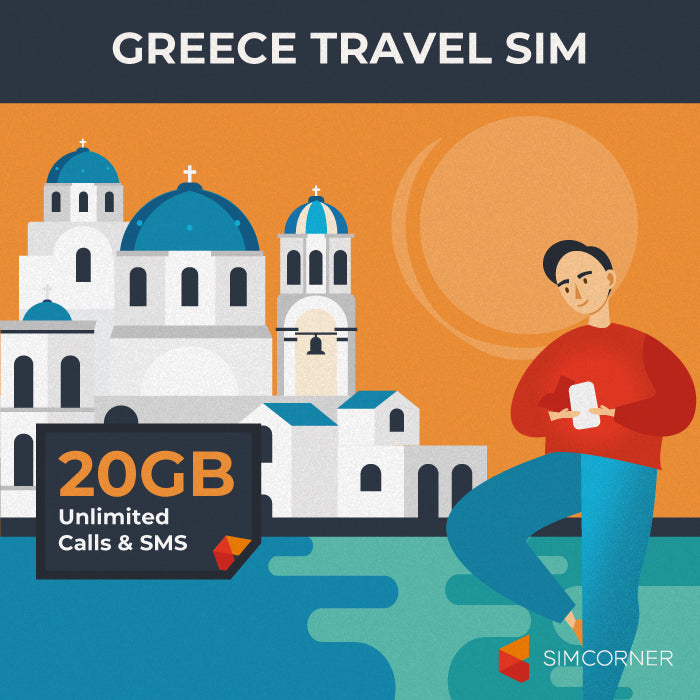 Simcorner - Greece Travel Sim Card (20GB)