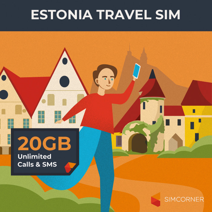 Estonia Travel Sim Card (20GB) - SimCorner Canada