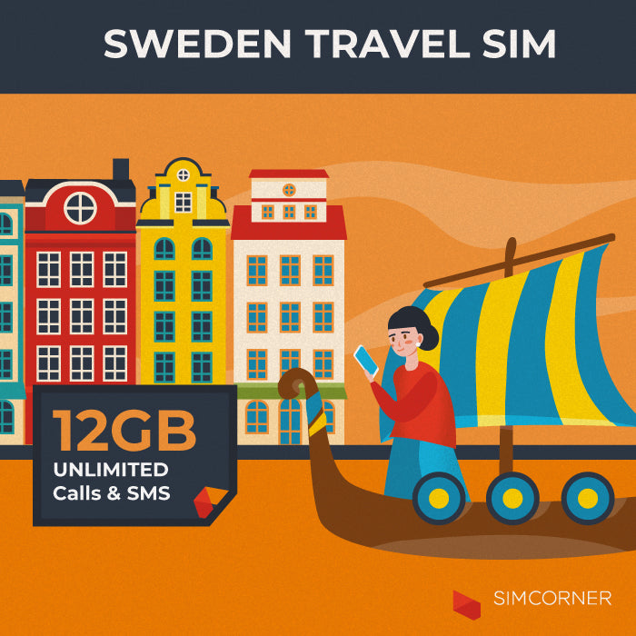 Simcorner - Sweden Travel Sim Card (12GB)