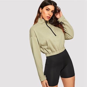 Drop Shoulder Crop Top