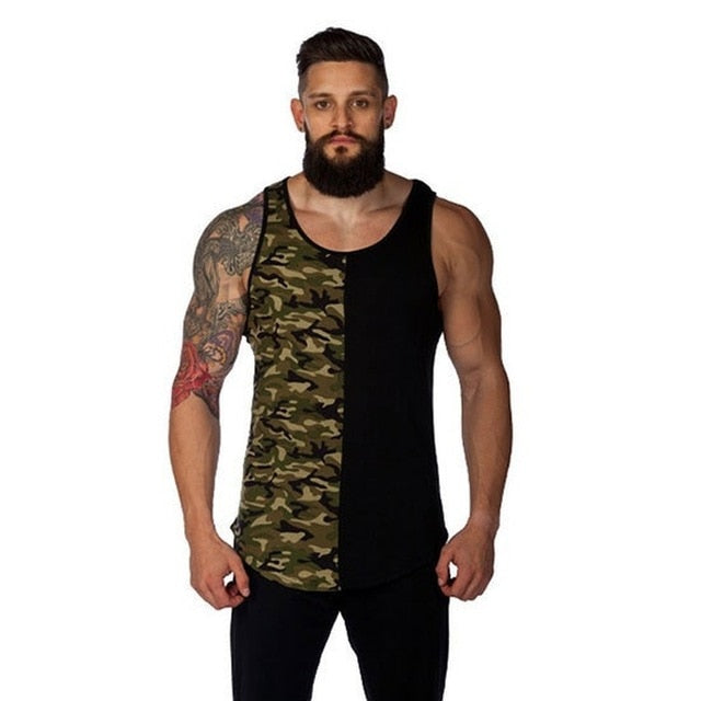 Men's Two Tone Tank Top