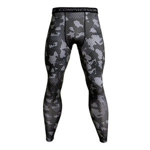 Patterned Compression Pants