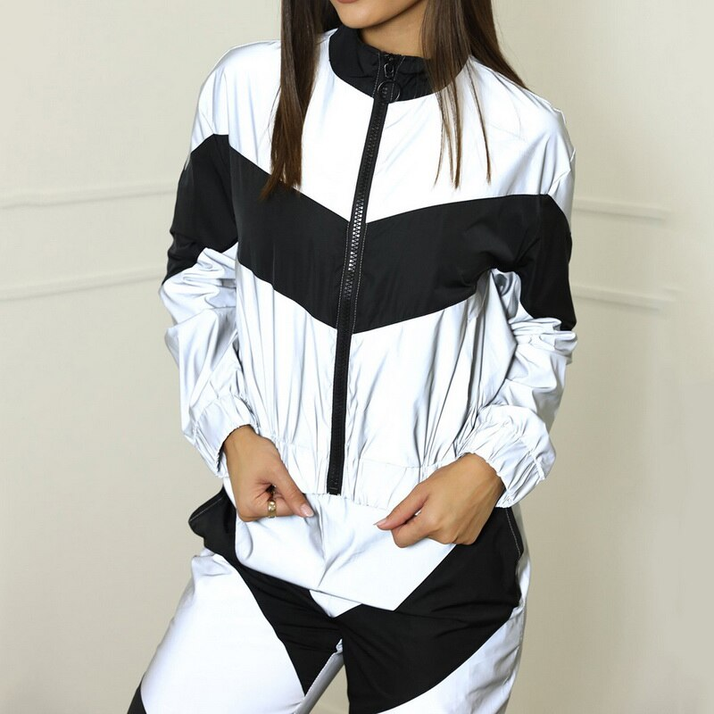 2 Pc Reflective Track Suit