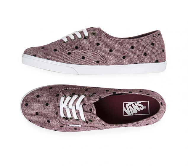 VANS |AUTHENTIC | LO PRO | BURGANDY/WHITE