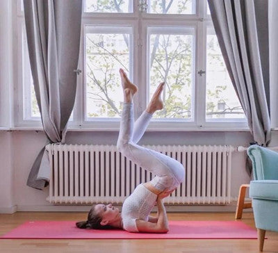 A set of female yoga sequence comparable to handstand effect, often practice to make you radiant