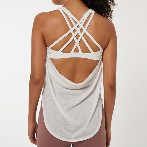 Fake two-piece sports yoga vest