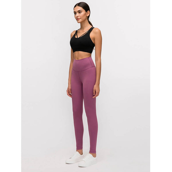 purple running leggings