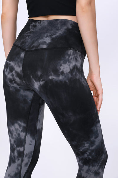 High-end double-sided water-grinding tie-dye yoga pants