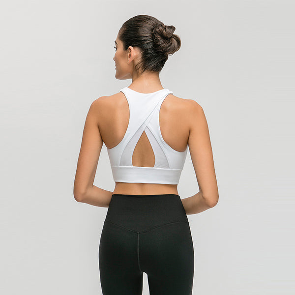 High-necked sports bras