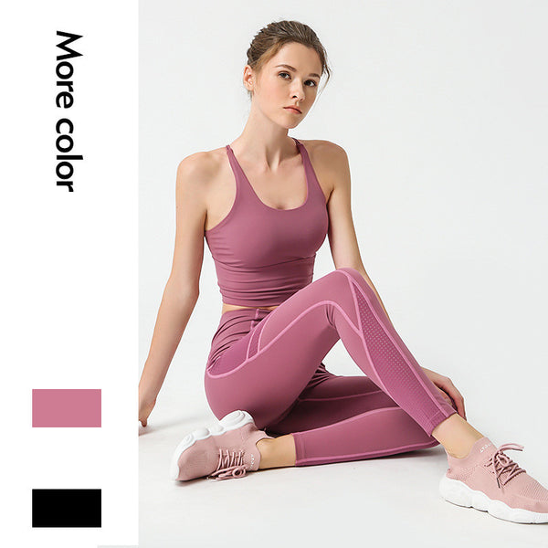 Yoga Outfits Sports Bra and Leggings Set Tracksuits 2 Piece