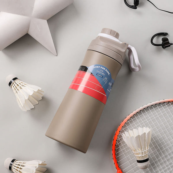 Vacuum-Insulated Stainless Steel Water Bottle with Spout Lid