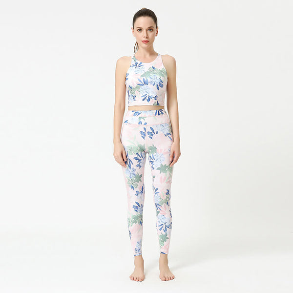 Tropical Printed Yoga Suits