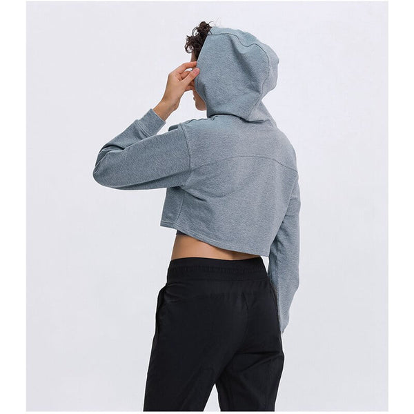 Fashion long-sleeved hooded sweater
